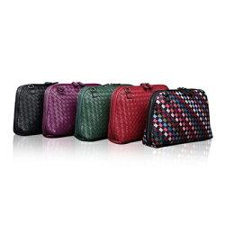 ★真皮編織包手拿包-貝殼羊皮手工編織可肩背女包包5色73lm7【獨家進口】【米蘭精品】