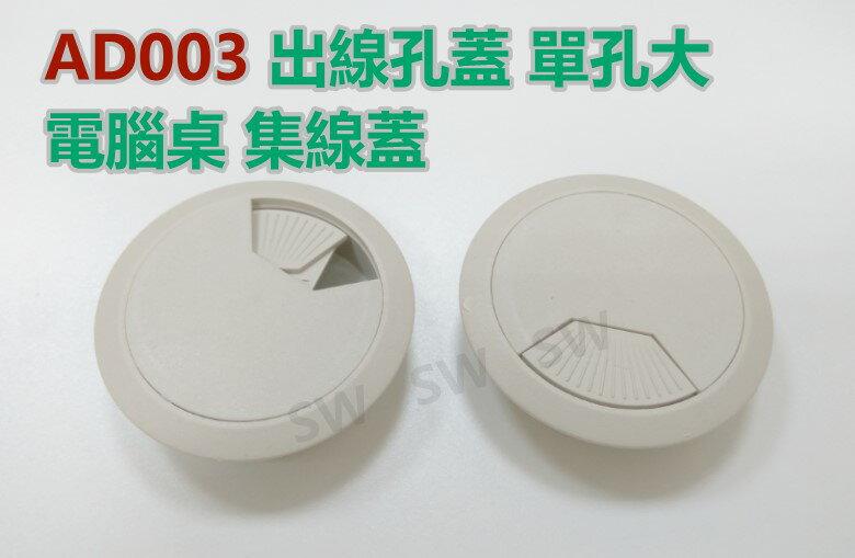 AD003灰白單孔大 72/60MM 出線孔蓋 電腦桌 集線盒 集線蓋 電線收納 集線器 塑膠圓形出線孔 線孔蓋 走線孔