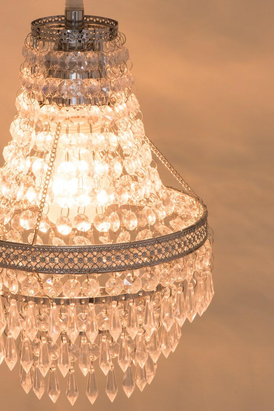 鍍鉻色華麗透明壓克力珠吊燈-BNL00022 8