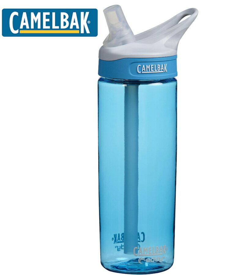 Camelbak 多水吸管水瓶 EDDY 600ml 水滴藍 CB53635