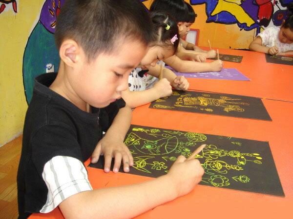 兒童素面款七彩刮刮畫