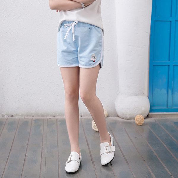純色棉質滾邊 短褲 女 棉褲 SL628 好娃娃
