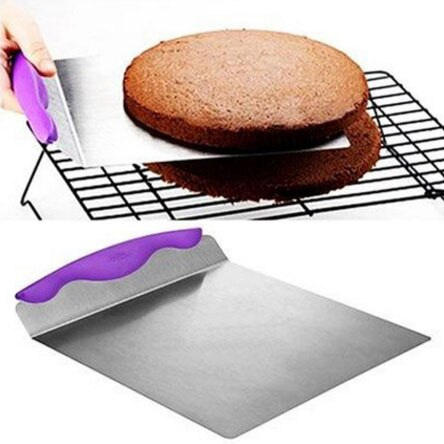 8寸蛋糕安全轉移鏟板 麵包披薩底托行動器 食品級不銹鋼 烘焙工具