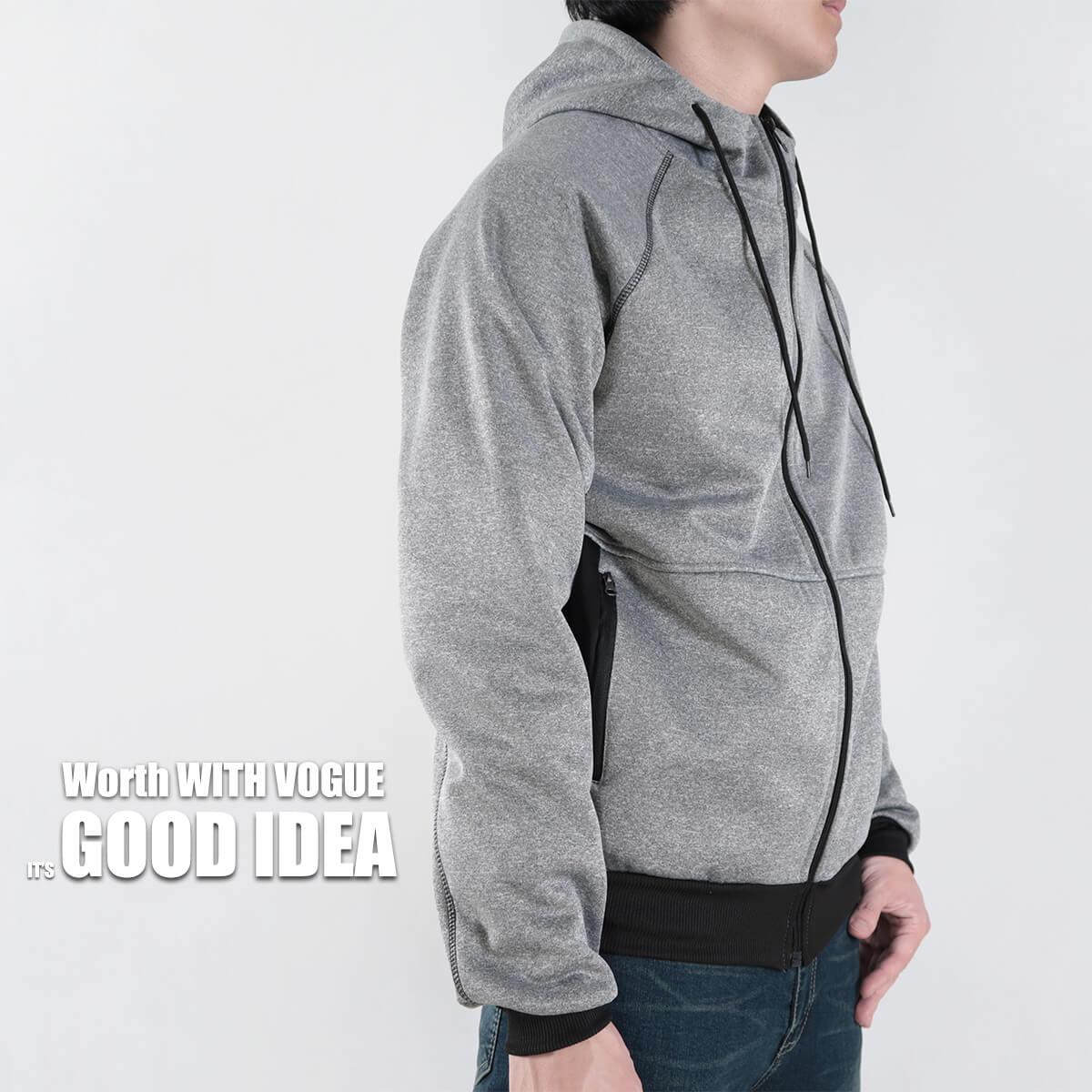 內刷毛連帽保暖外套 夾克外套 運動外套 休閒連帽外套 刷毛外套 黑色外套 時尚穿搭 WARM FLEECE LINED JACKETS (321-8916-01)淺灰色、(321-8916-02)深灰色、(321-8916-03)黑色 L XL 2L(胸圍46~50英吋) [實體店面保障] sun-e 1