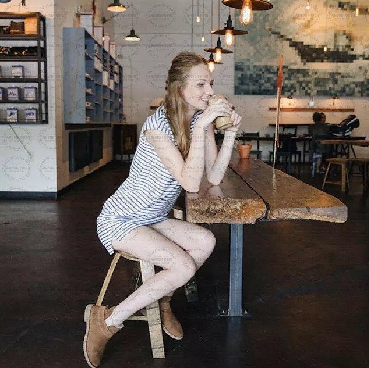 OUTLET正品代購 澳洲 UGG 羊皮毛一體馬汀靴 中長靴 保暖 真皮羊皮毛 雪靴 短靴 棕色 5