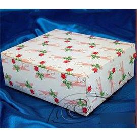 【中方盒-一枝花-300g銅版紙-15個/組】蛋糕盒 西點盒 點心盒(24*17*7cm),15個/組-8001001