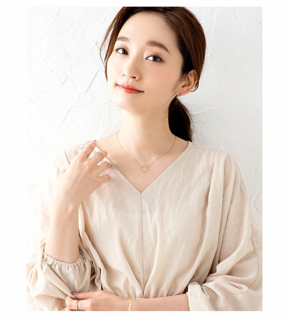 日本Cream Dot  /  槌面圓環項鍊  /  p00017  /  日本必買 日本樂天代購  /  件件含運 8