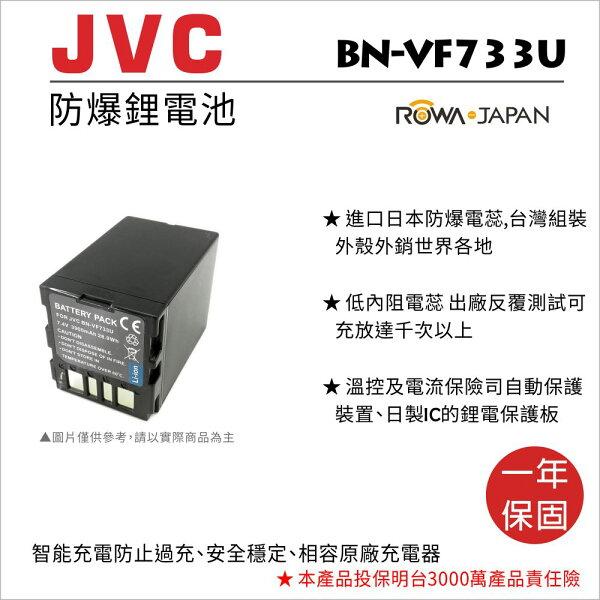攝彩@樂華FORJvcBN-VF733U相機電池鋰電池防爆原廠充電器可充保固一年
