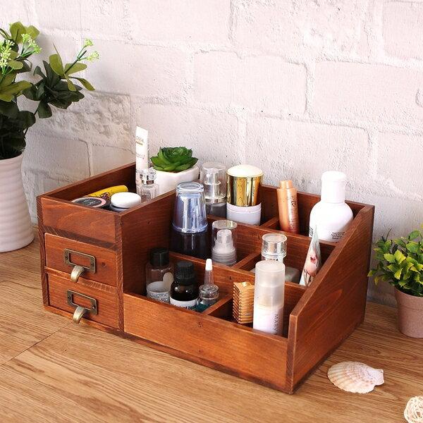 (收納空間)桌面抽屜式首飾化妝品收納盒預購七天