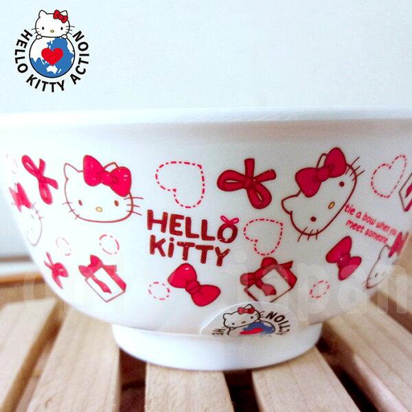 【真愛日本】18051800005可愛餐碗-KT紅蝴蝶結三麗鷗kitty凱蒂貓餐具餐碗美耐皿碗