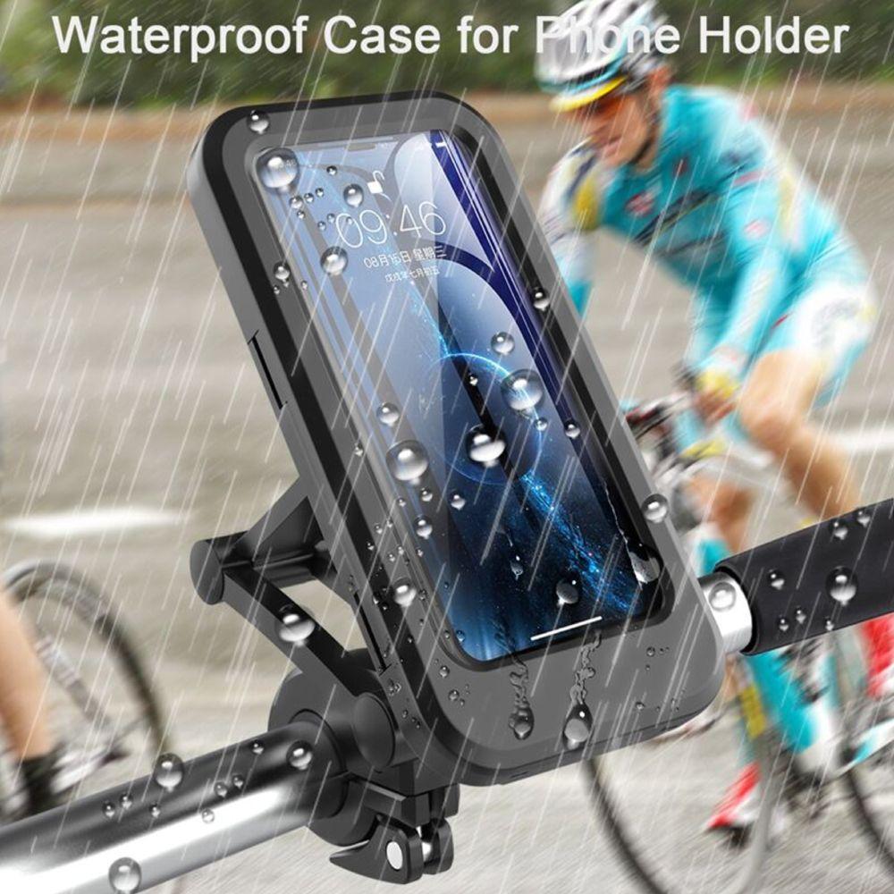 單車防水支架摩托車后視鏡手機支架外賣導航機車托架自行車把手