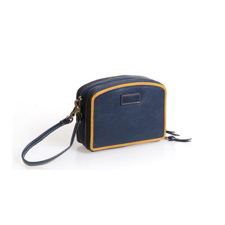 【喜番屋】真皮頭層牛女士皮夾皮包錢夾錢包化妝包證件包手機包女夾女包【LH605】