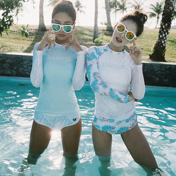 PS Mall 泳裝【ET211】少女二件套泳衣 防曬長袖度假泳裝 泳衣 溫泉 沙灘 BIKINI 1