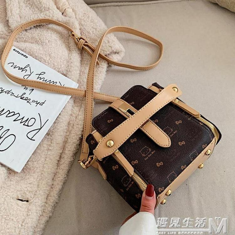 洋氣小包包女包新款潮時尚手提印花水桶包韓版鎖扣單肩斜背包 遇见生活