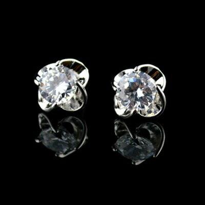 925純銀耳環鑲鑽耳飾~ 獨特奢華耀眼生日情人節 女飾品2色73hz62~ ~~米蘭 ~