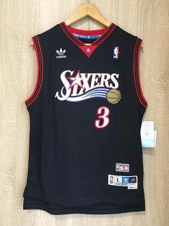 【蟹老闆】Adidas 青年版 球衣 七六人 Philadelphia 76ers 黑流星 Allen Iverson A.I. 答案 戰神 男女可穿
