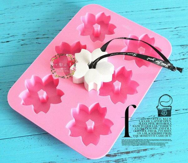 心動小羊手作坊:心動小羊^^DIY矽膠模具肥皂香皂模型矽膠皂模藝術皂模具香磚擴香石6連6孔櫻花