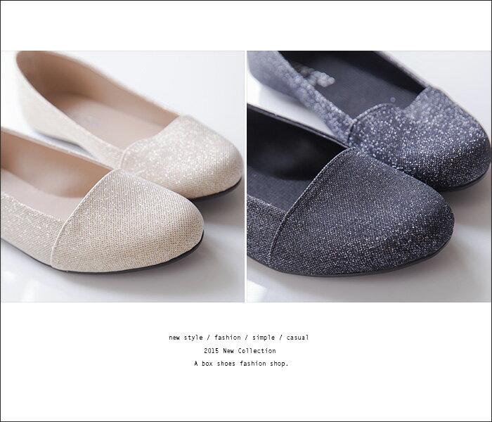 格子舖*【ADP841】MIT台灣製 低調奢華華麗金蔥材質 平底包鞋 娃娃鞋 懶人鞋 2色 2