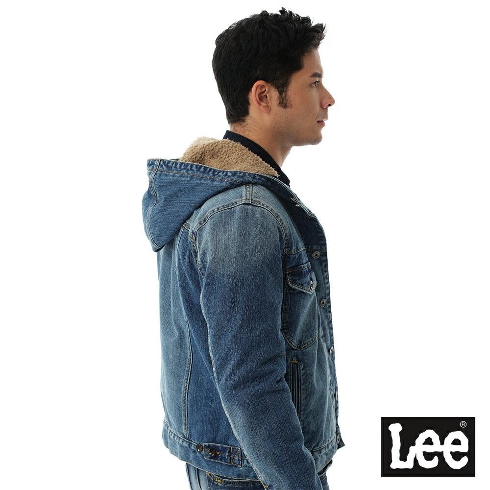Lee 連帽牛仔外套 / 101+-男款-藍色 6