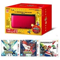 Pokemon:精靈寶可夢到任天堂Nintendo 3DS XL 紅黑色 公司貨 精靈寶可夢20周年紀念組合