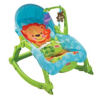 ☆費雪可愛動物可攜式兩用安撫躺椅