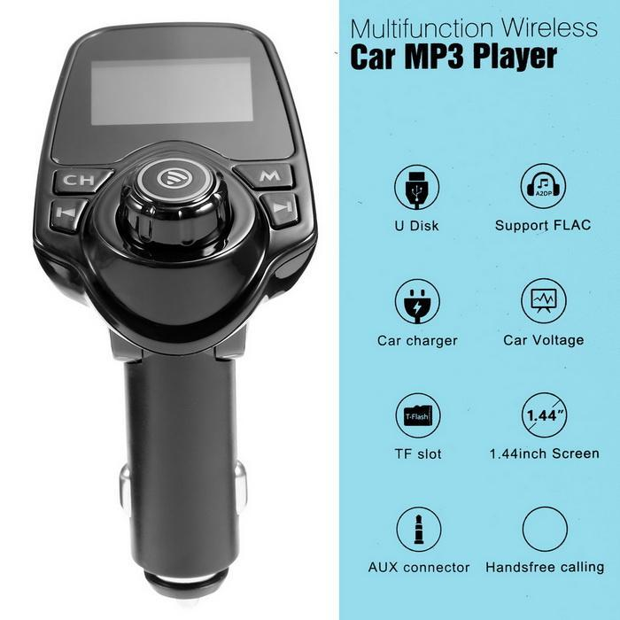 Bluetooth Car FM Transmitter Radio Adapter USB Charger MP3 Player 0