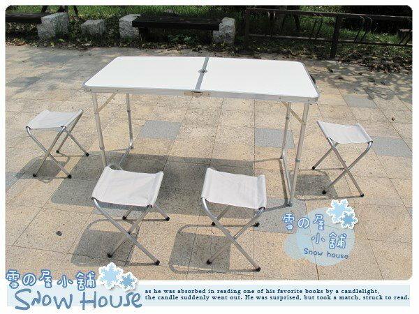 ╭☆雪之屋小舖☆╯@特價優惠@加固型高級鋁合金折疊桌椅/折合桌椅露營野餐桌椅組**有傘孔