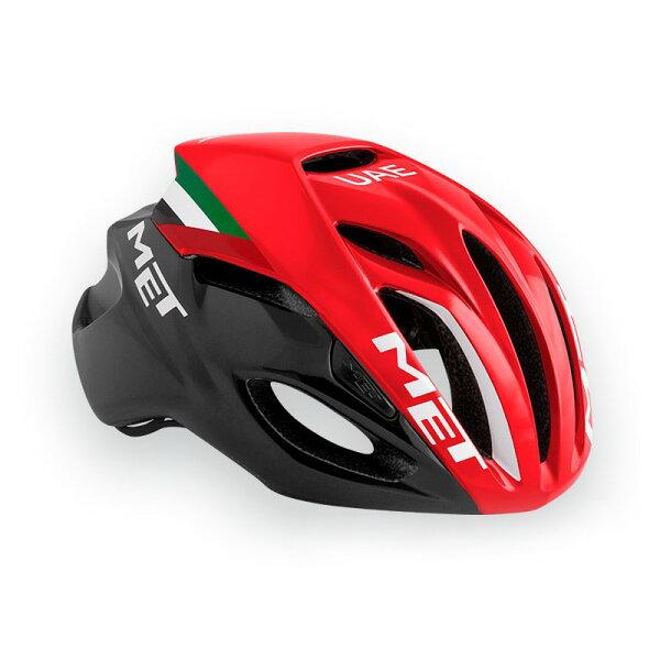 【7號公園自行車】Met2017RIVAL專業級空氣動力帽(黑紅UAE)