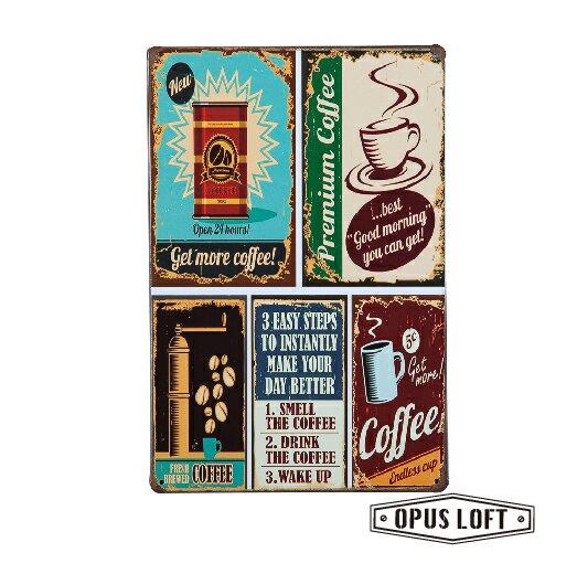 純真年代Opus Loft:Coffee復古鐵牌TP-1011