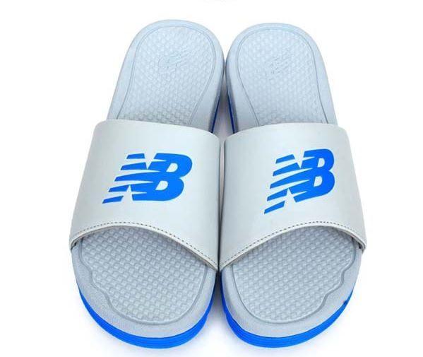 New Balance 男鞋 女鞋 拖鞋 休閒 大LOGO 軟底 灰 藍【運動世界】M3068GBL