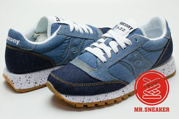 ☆Mr.Sneaker☆SauconyJazzOriginal索康尼復古丹寧原色淺藍、深藍兩色女款
