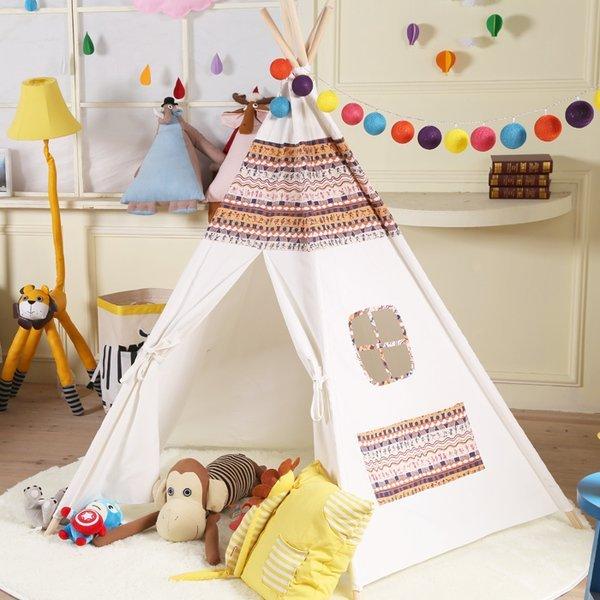 =優生活=『夏日野餐季免運優惠』韓國印第安民族風純棉寶寶帳篷 寶寶嬰兒遊戲屋 野餐帳篷 野餐墊 兒童拍攝道具