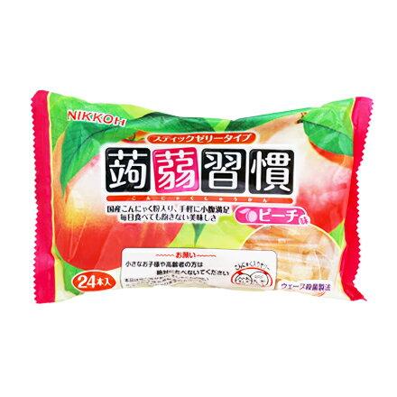 [敵富朗超市]日本蒟蒻習慣果凍-水蜜桃(384g) - 限時優惠好康折扣
