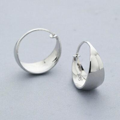 925純銀耳環光面耳扣-蛇肚型時尚經典復古女飾品3款73ql3【獨家進口】【米蘭精品】