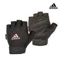 【Adidas愛迪達】可調式透氣短指女用訓練手套(粉)-ShopWonder萬達康-運動休閒推薦