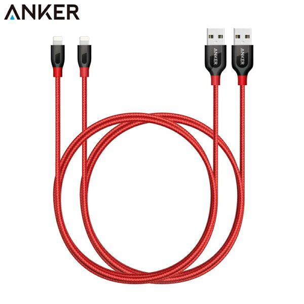耀您館(兩條組)Anker蘋果數據線90公分PowerLine+蘋果傳輸線Lightnig蘋果充電線Apple蘋果充電線iPhoneiPadx87654+32airpromini