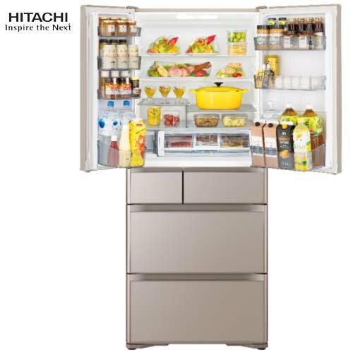 HITACHI日立RG620HJXN621L琉璃金變頻電冰箱六門日本製