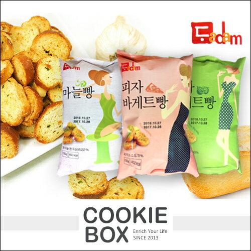 韓國 Dadam 法式 流淚 小吐司 100g 法國 麵包 餅乾 美味 披薩 大蒜 洋蔥 *餅乾盒子*