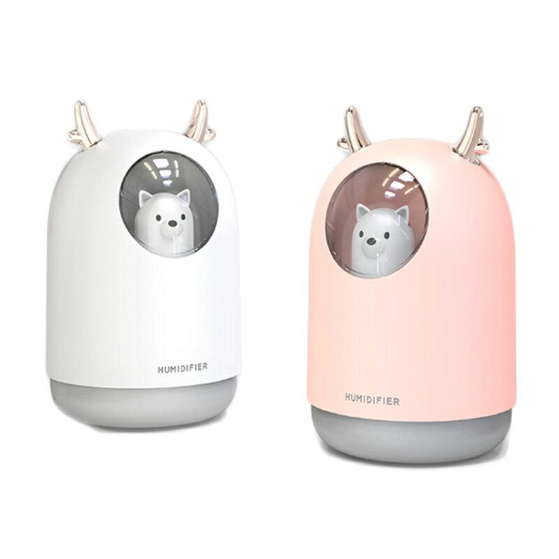 新款麋鹿夜燈迷你加濕器 小型桌面空氣噴霧器 聖誕節交換禮物【Z91125】 1
