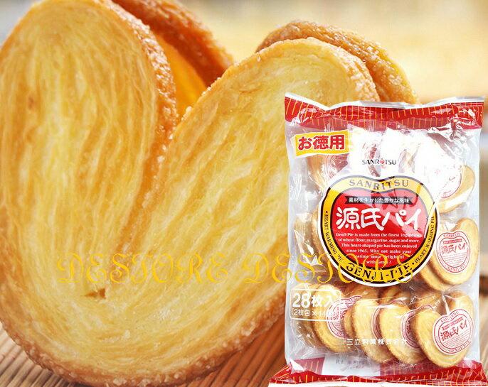 有樂町進口食品  三立源氏派 愛心形狀的酥餅 千層派餅 源氏派 J105 4901830119671 4