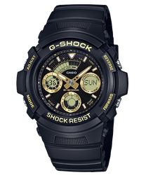 CASIO G-SHOCK 運動賽車三眼指針錶 黑 金 AW-591GBX-1A9DR 52mm