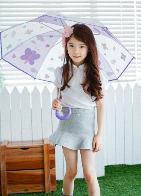 Lemonkid◆正韓可愛蝴蝶星球卡通動物造型兒童雨傘-紫色蝴蝶