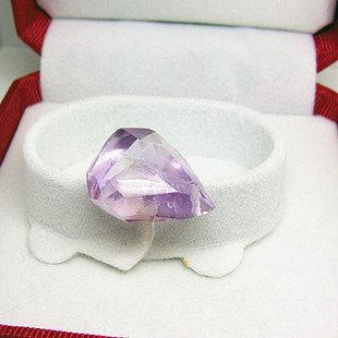 紫水晶不定型吊墜 紫水晶吊墜 紫水晶掛墜 優雅紫色吊墜