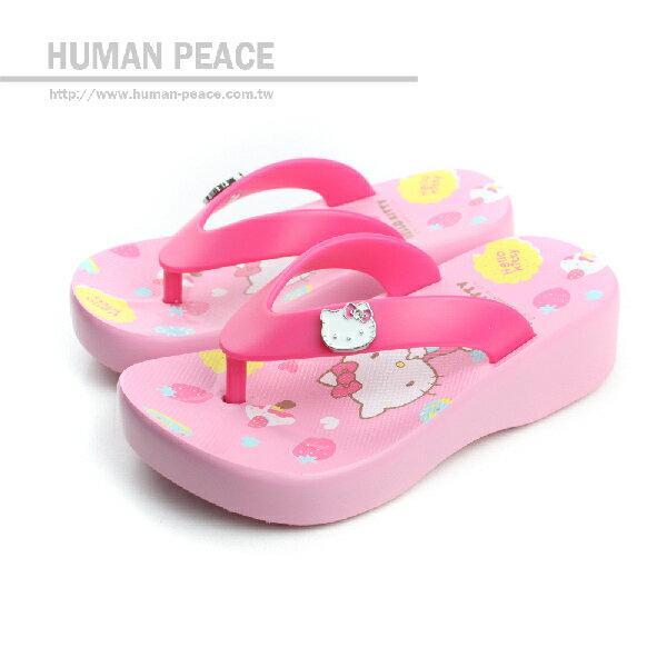 Hello Kitty 凱蒂貓 KITTY 夾腳拖 拖鞋 粉 中童 no638