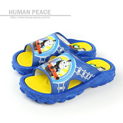 湯瑪士小火車 舒適 清涼 透氣 好穿脫 拖鞋 戶外休閒鞋 藍 中童 no530