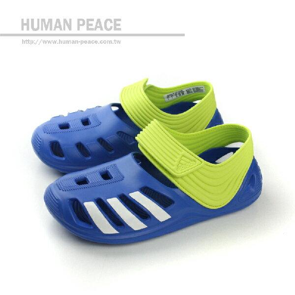 adidas 涼鞋 藍/綠 童 no992