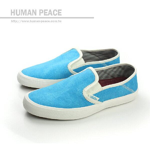 VANS Comina 帆布 舒適 素面 柔軟 好穿脫 懶人鞋 戶外休閒鞋 水藍 女款 no387
