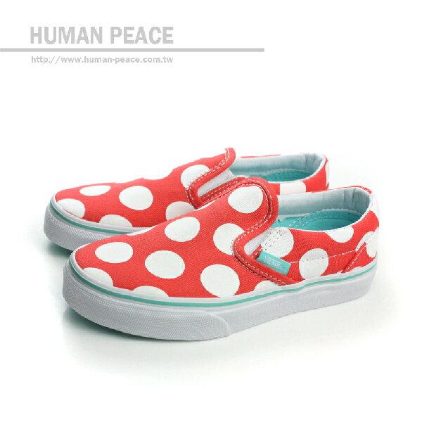 VANS Classic Slip-on 懶人鞋 戶外休閒鞋 紅 中童 no398