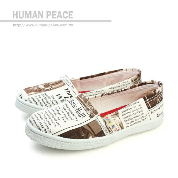 小女生鞋 帆布 舒適 好穿脫 懶人鞋 戶外休閒鞋 白 咖啡 中童 no058