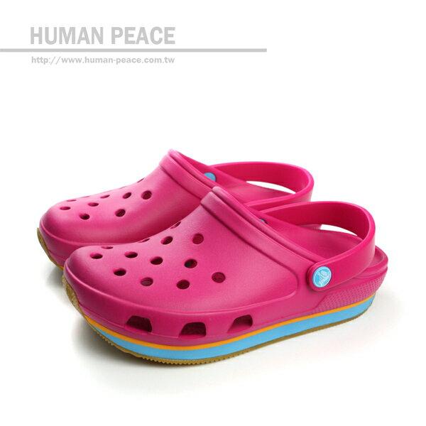Crocs 天然樹脂 防水 輕便 休閒 舒適 好穿脫 戶外休閒鞋 桃紅 女款 no241
